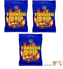 Tyrkisk Peber  Candy x 3 pack 450g  15.87 oz Hot Salty Licorice Fazer Finland