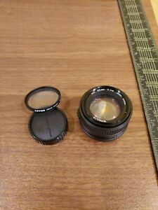 Minolta MD 1.4/50mm f/1.4 50mm Japan Lens no. 8103643 Used