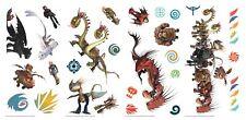 RoomMates Drachenreiter Dragons 28 teilig Wandtattoo  Wand Wandkleber Aufkleber