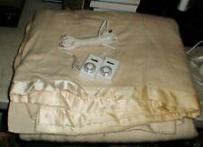 Sunbeam King Size Automatic Electric Blanket Model 56606 with Duel Controls