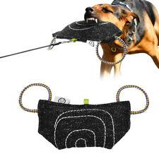 Jute Dog Training Bite Tug 2 Handle Bite Bar Grip Builder Wedge for SCHUTZHUND