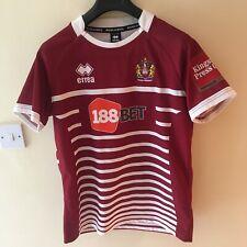 "Wigan Warriors SMALL errea 2017 Home Shirt Rugby Super League 20"" across"
