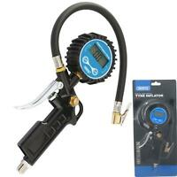 "Draper Digital Air Line Tyre Pump Inflator Pressure Gauge Compressor 1/4"" BSP"