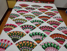 Queen size Machine pieced and quilted  quilt  #J-69