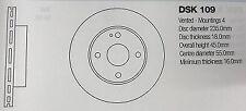 DSK109 MAZDA 323/MX5 BRAKE DISC