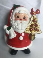 "Vintage Napco Ware Porcelain Cute 6"" Santa Claus Figurine Planter/vase"