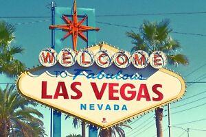 Las Vegas Welcome Nevada USA Retro Metal Wall Plaque Art Vintage tin sign