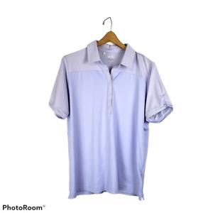 Adidas PureMotion golf polo shirt womens XLarge purple