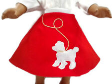 Red & White Poodle Skirt Doll Clothes Fit American Girl Dolls