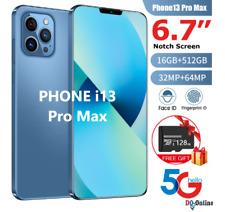 Global Version Smartphone Phone i13 Pro Max 6.7inc Notch Screen 5G 12GB+512G