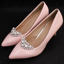 Pedrería cristal zapato clips mujeres boda banquete botas Charms joyas Decor