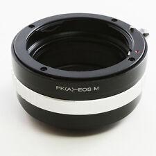 Pentax K PK DA AF Objektivadapter für Canon EOS M EF-M mount adapter M2 M3 M10