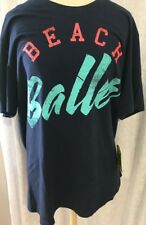 Zumba Beach Baller Tee Let's Go Indigo XLengendary (XL) New