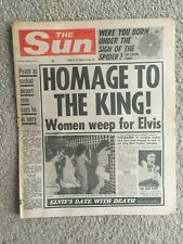 More details for the sun newspaper 18th august 1977 elvis presley complete page 3 jodi flynn