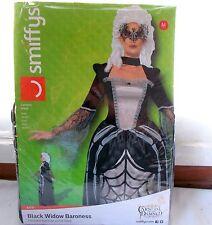 New Smiffys Black Widow Baroness Adult Costume Dress Medium 12-14 Halloween