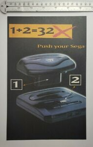 Vintage Sega 32x RARE Print Advertisement