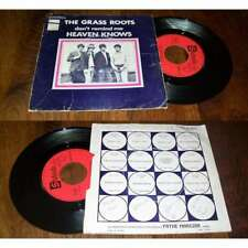 THE GRASS ROOTS - Heaven Knows Rare French PS 7' Psych Folk 69' BIEM Stateside