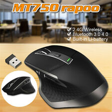 Rapoo MT750 Wireless Mouse Multi Mode Mice Bluetooth 2.4GHz with USB Receiver