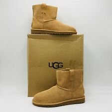 UGG Women's Classic Unlined Mini Perf Boot Size 7 Tan Suede