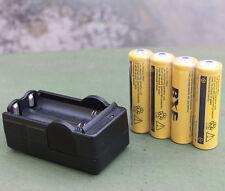 4pc 18650 3.7V 9800mAh Rechargeable Li-ion Battery + 1 Smart Dual Charger Set