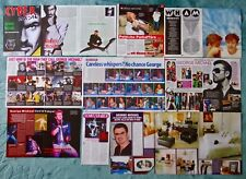 GEORGE MICHAEL+CLIPPINGS+CUTTINGS+MAGAZINES+FAITH+OLDER+GAY+1980's+1990's+WHAM!
