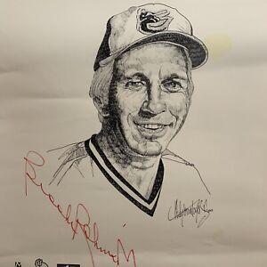 Brooks Robinson Autographed Rudy Montoya Jr Poster MLB Baseball Baltimore Oriole