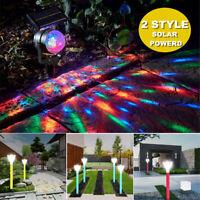 2 Styles Solar Power Garden Lights Outdoor Landscape Path Yard Projector Light