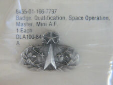USAF Air Force master space operation military badge pin new in pkg. MINI Size