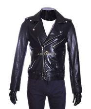 Waist Length Funnel Neck Biker Jackets for Men
