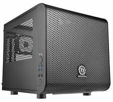 Gaming PC Case Computer Mini ITX Cube Thermaltake Core V1 Chassis Compact Black