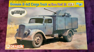 Dragon 6828 1:35 German 3t 4x2 Cargo Truck w/2cm Flak 38 Model Kit *SEALED BAGS*