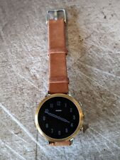 Fossil Q FTW6016 Gen 4 Venture HR 18mm Stainless Steel Gold Silver Tan Leather