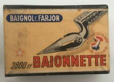Rare boîte de plumes BAIGNOL & FARJON  Plume Baionnette