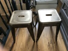 2 x Genuine TOLIX Steel Stools