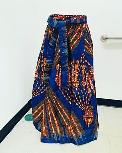 african print maxi skirt With Head Wrap