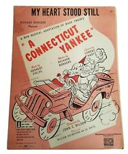 MY HEART STOOD STILL Show Revival Connecticut yankee Vintage Sheet Music 1927 LQ