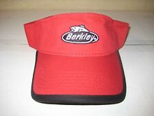 New Berkley Fishing Line Visor Sun Protection Red Tennis Golf Cap Hat