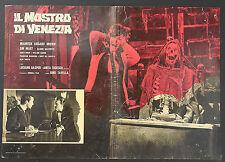 FOTOBUSTA 3, IL MOSTRO DI VENEZIA, DINO TAVELLA, GIN MART, HORROR GIALLO POSTER