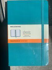 Moleskine Classic Notebook | Hardcover | Ruked | Teal (5 X 8.25)