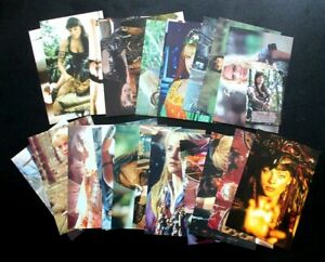 24 Xena Warrior Princess postcards (from VHS releases) & Skills Cert. Card