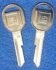"GM KEY BLANKS  2-Trunk/Glovebox (set of 2) 1972 76 80 NOS  OEM ""D"""