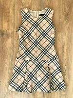 Burberry rare Girls nova check beige dress size 10 Years