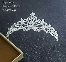 Crystal Tiara Princess Prom Wedding Bridal Hair Jewelry Accessories Quinceanera