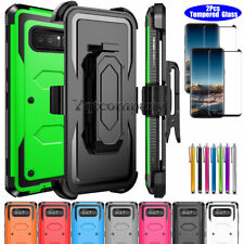 For Samsung Galaxy Note 8 Shockproof Hybrid Rugged Case Cover w/2xTempered Glass