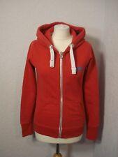Superdry red zip up hoodie XS