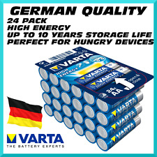 x24 PACK AA Varta High Energy German Quality Batteries - Ultra Long Life, 10yrs