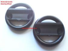 Set-of-2-Steering Wheel Nintendo Switch Joy Con Controller Black Handle Grips