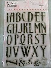 My Sentiments Exactly Clear Acrylic Stamps TT207 Large Romance Caps Alphabet NEW