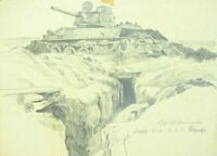 Orel Russland Winter 1942/43  Bunkerkampf mit Panzer T 43