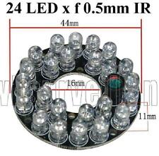 24 Infared 0.5mm 60 Degrees spread Clear LED Board for Bullet CCTV Cameras